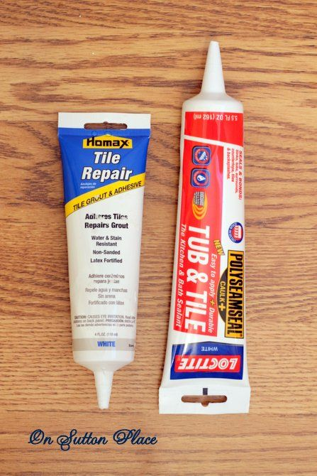 How To Caulk A Bathtub Tile Grout Adhesive Repair Instead Of Ing 2 Products Replace