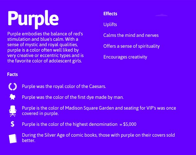 Meaning Of The Word Purple Below Are A List Of Colors With Their