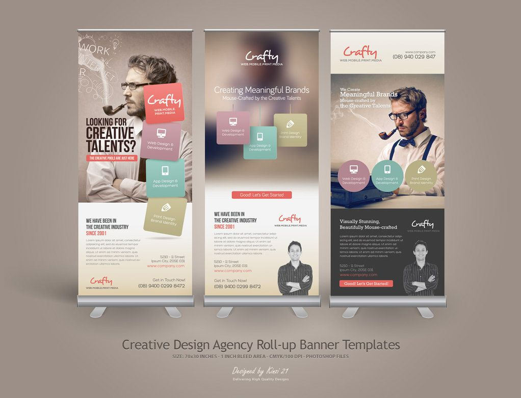 Design for roll up banner - Creative Design Agency Roll Up Banners Are Design Templates Created For Sale On Graphic River More Info Of The Templates And How To Get The Template So