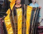 Premium Getzner Magnum Gold afrikanischen Kleid / afrikanische Kleidung / afrikanische ...  m... #afrikanischeskleid