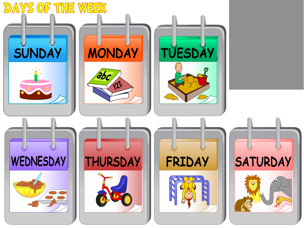 Children Learn The Days Of The Week As The Day Of The Week