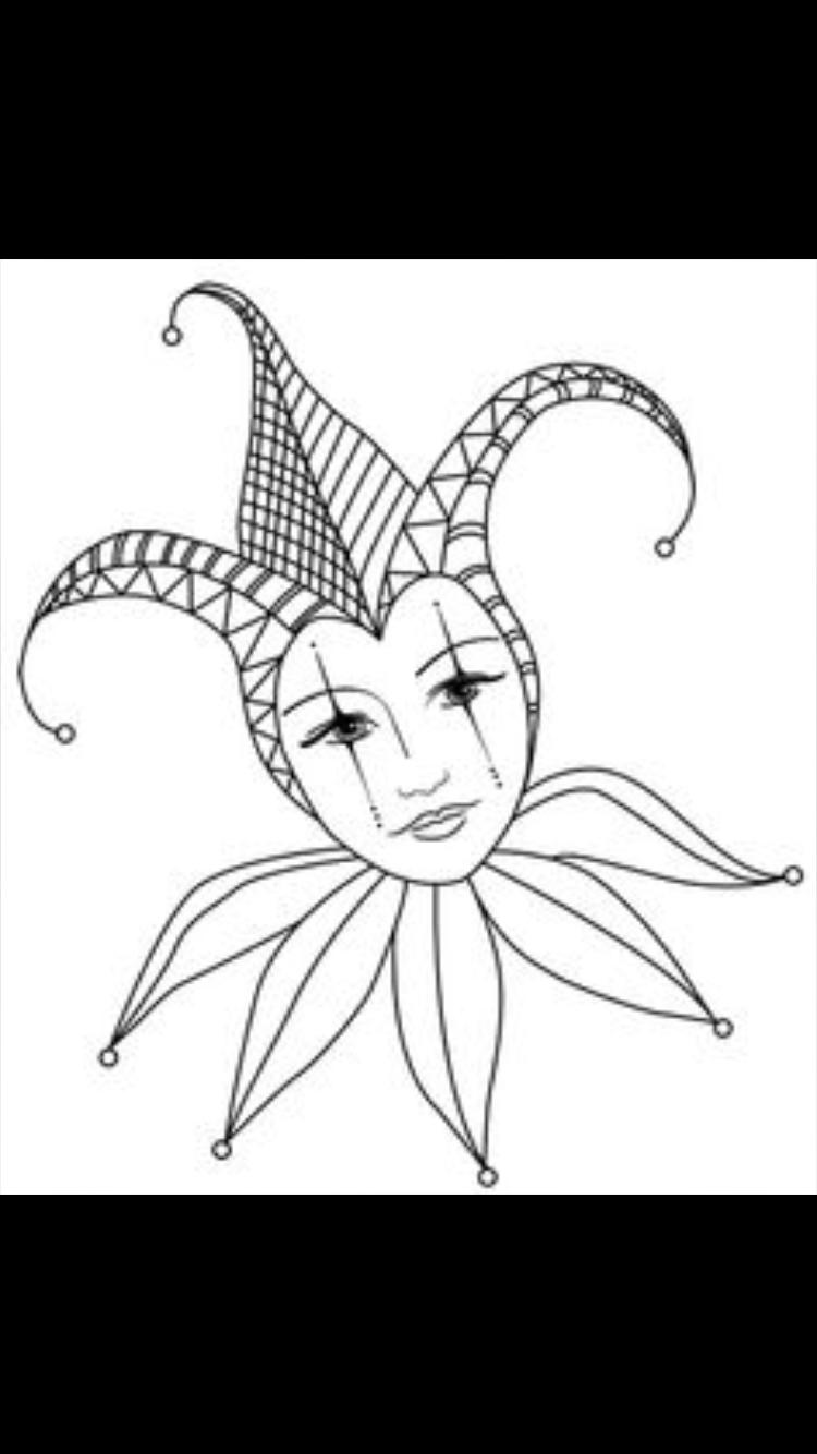Pin von Pia Skuci auf Drawing  Zeichenvorlagen, Karneval basteln