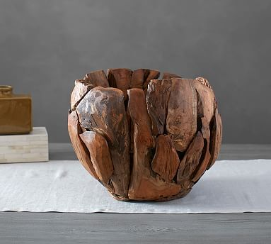Pottery Barn Decorative Bowls Teak Root Bowl #potterybarn  Diyto Try  Pinterest  Teak