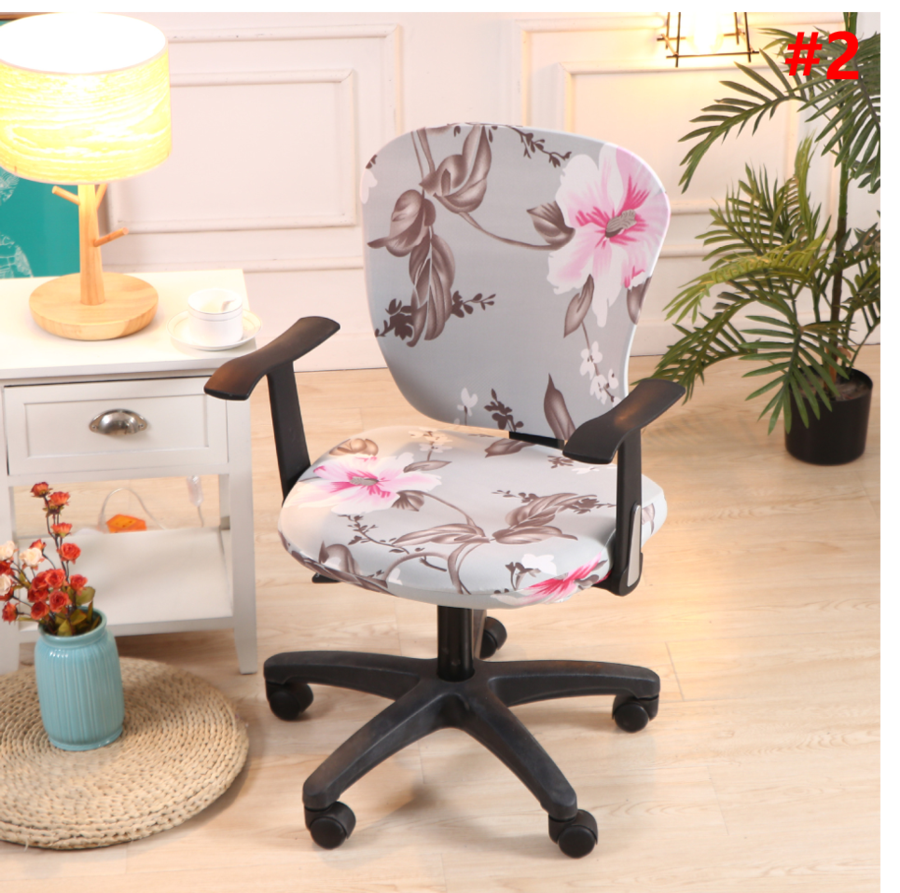 Decorative Computer Office Chair Cover cloverlucky