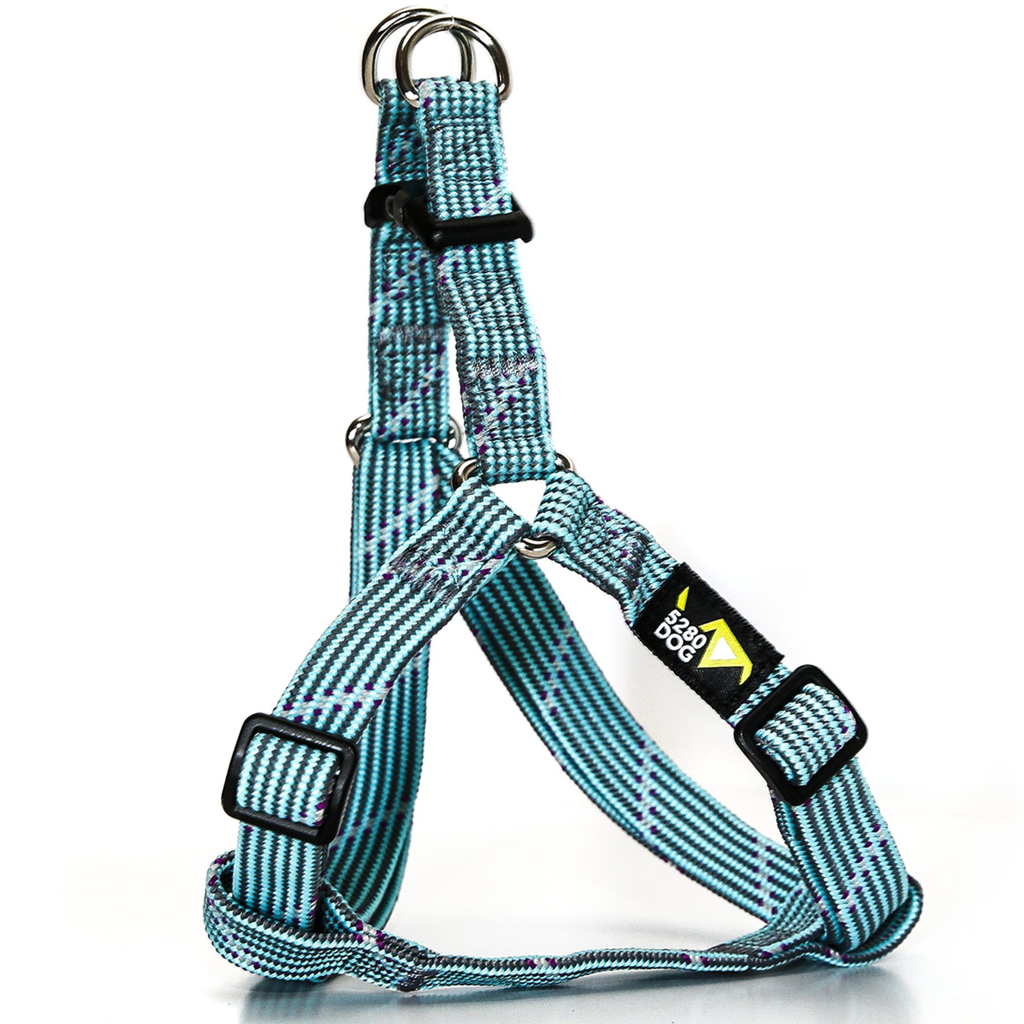5280DOG Turquoise Braided Step-In Harness, Large