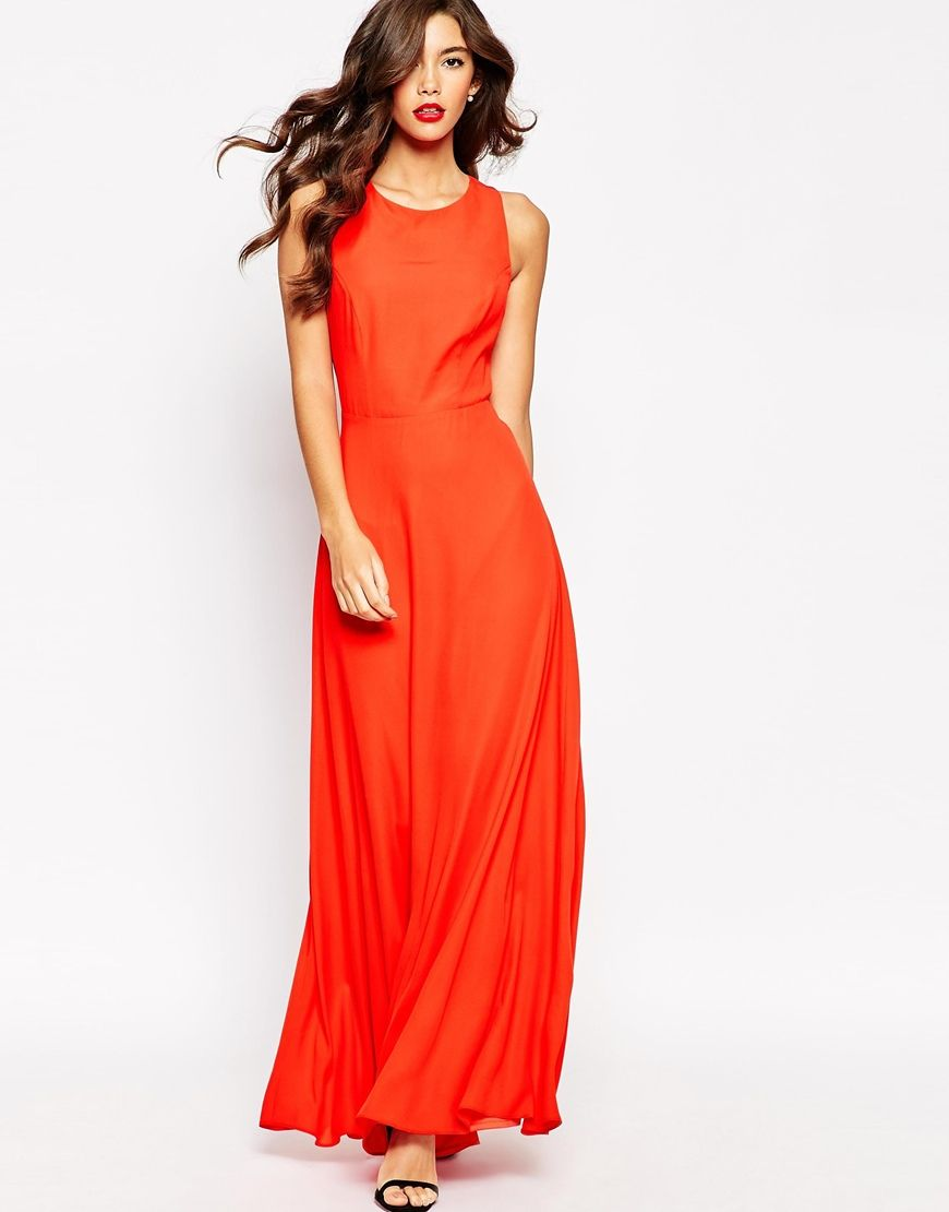 Long red dress for wedding  ASOS Cross Back Maxi Dress  bridal party  Pinterest  Maxi dresses