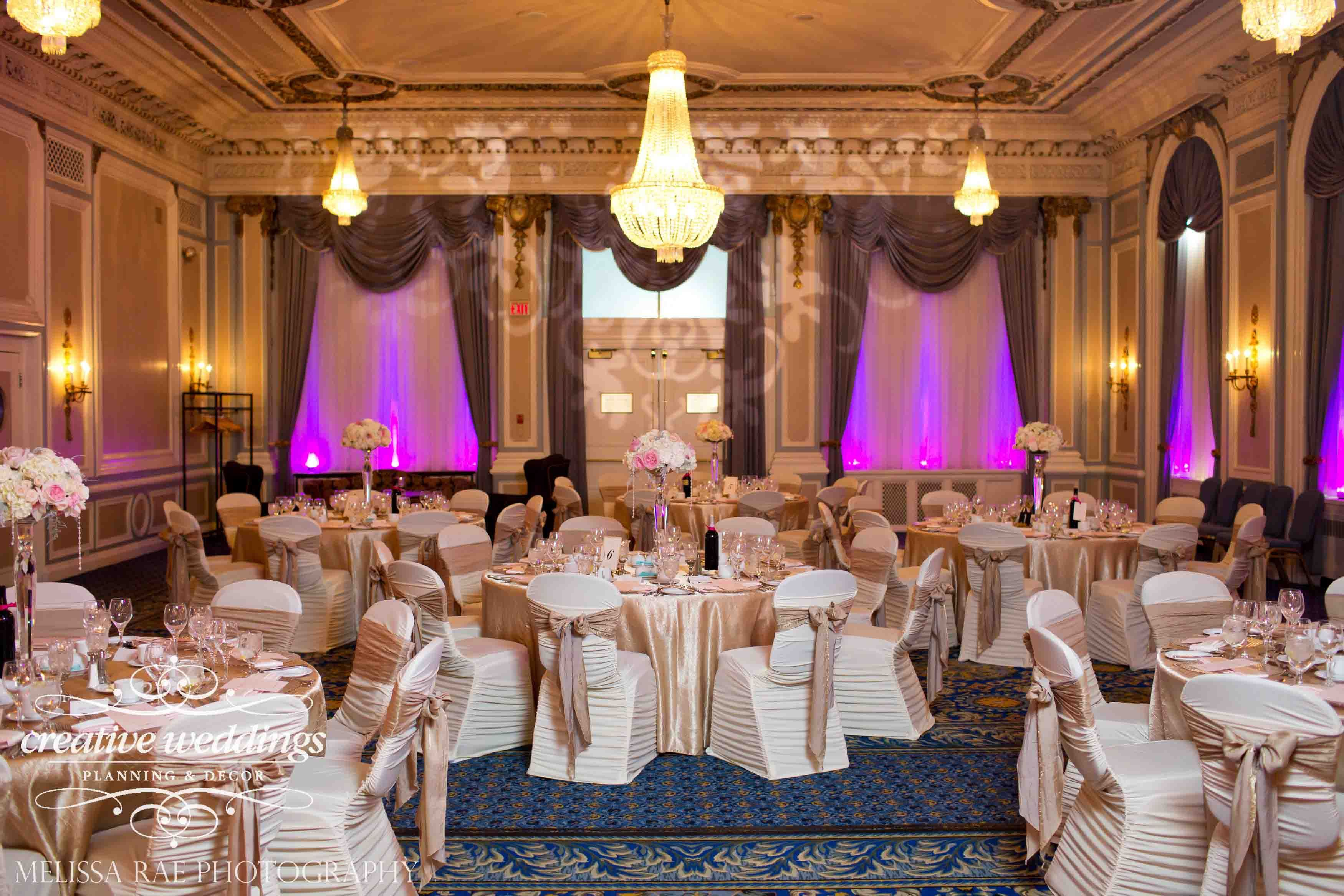 Summer Wedding Champagne Gold And Blush Pink At Fairmontpalliser Lighting By Stardust