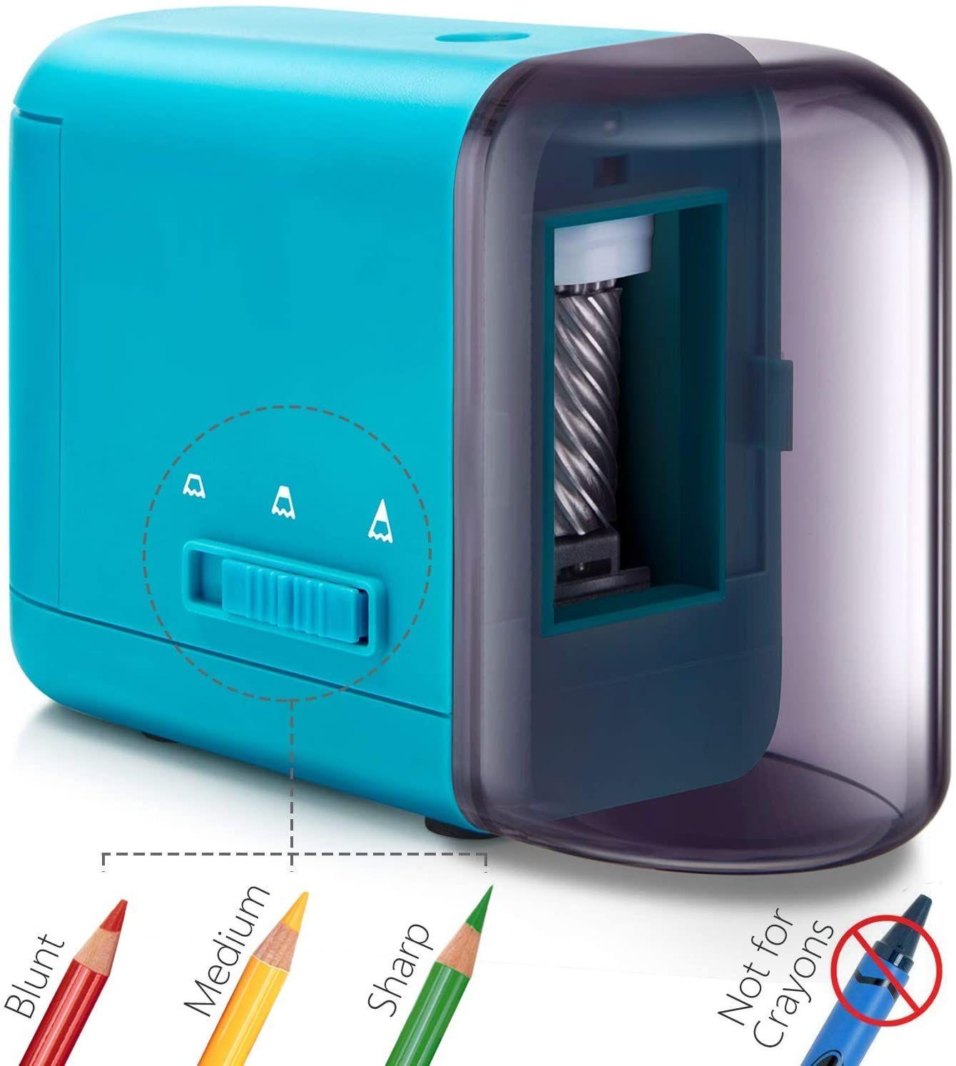 3 colored pencil sharpener electric pencil sharpener