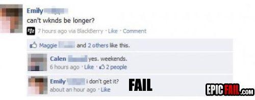 facebook stupid ppl