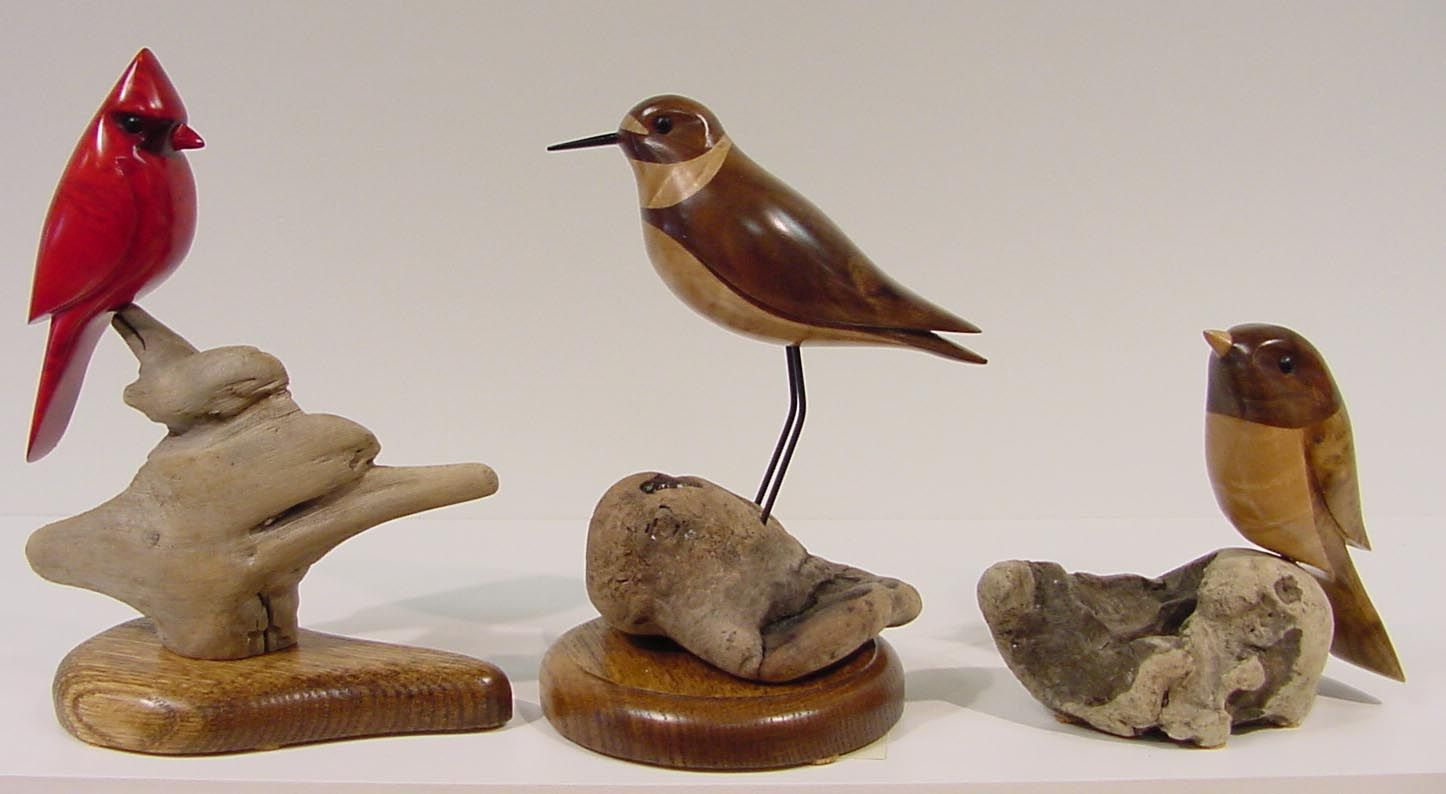 Bird Sculptures wood carved bird sculpturesgordon stennett. (cardinal, plover