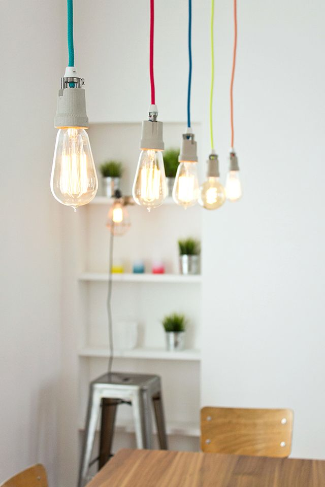 luminaire homemade fils de lampes nud ampoules merci