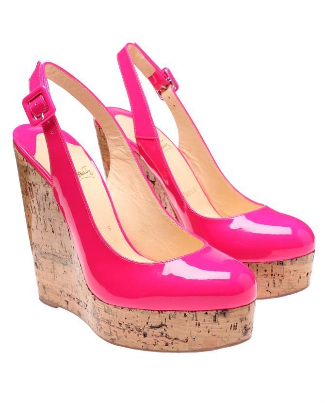Christian Louboutin Plataformas rosa