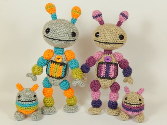 Nut And Bolt Robots Amigurumi Crochet Pattern With Images