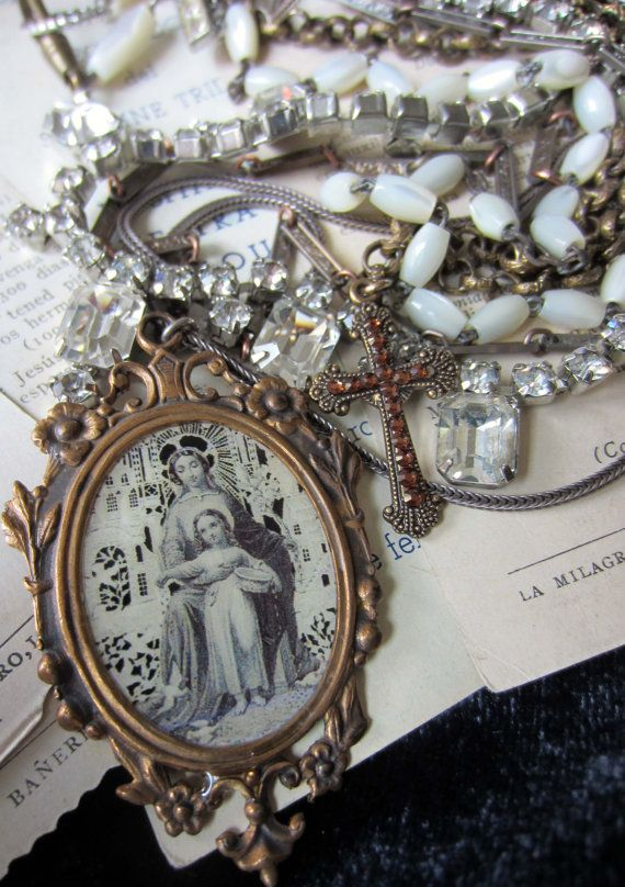 vintage religious necklace