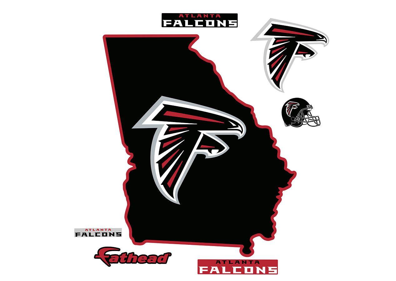 Atlanta Falcons State Of Georgia Fathead Wall Decal Atlanta Falcons Atlanta Falcons Logo Atlanta Falcons Fans