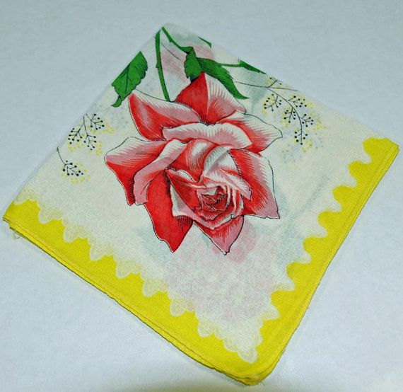 Vintage Handkerchief for Crafting Sewing Collage or by annswhimsey