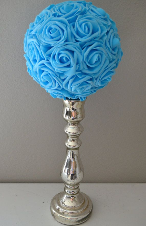 Luxury Elegant Wedding Light BLUE hanging foam by KimeeKouture, $25.00