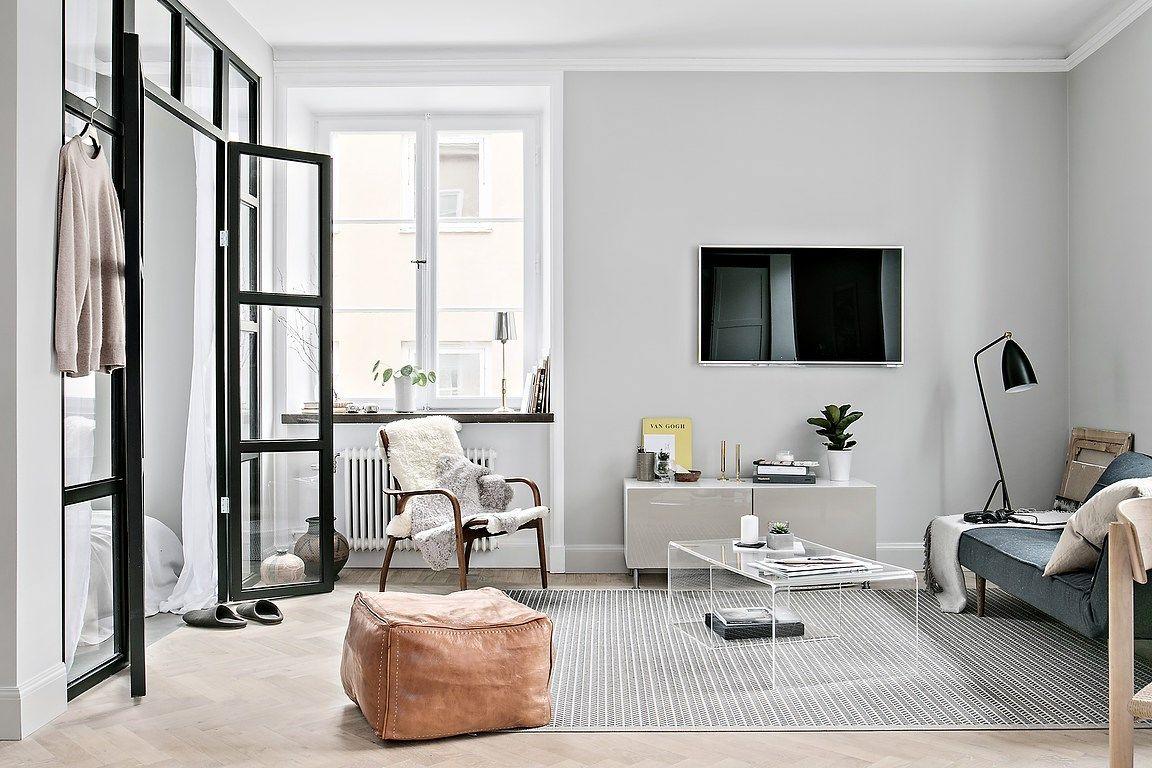 Minimalism scandinav într un apartament de 48 m² pinterest