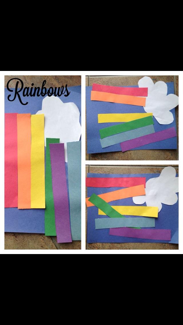 Rainbow Collage St Patrick S Day Pinterest Rainbow Crafts