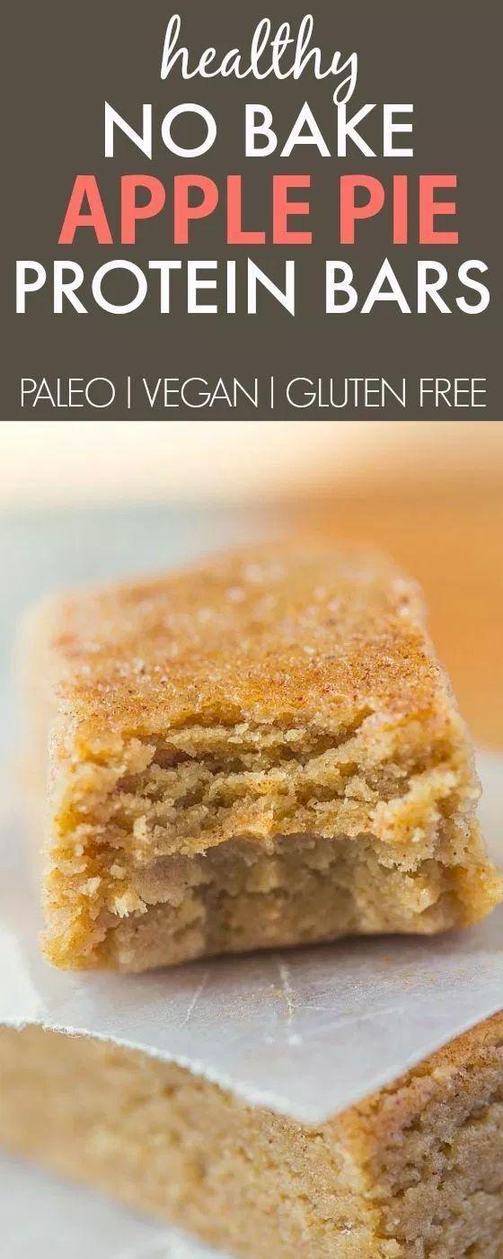 GUT ESSEN / GESUND - No Bake Apple Pie Proteinriegel (Paleo, Vegan, Glutenfrei)   - Gf deserts -