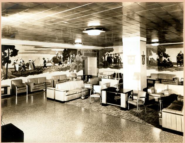 Metropolitan Life lobby with Wyeth murals