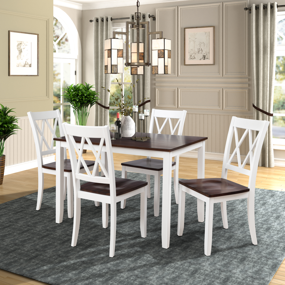 9 Piece Kitchen Table Set, Modern Dining Table Sets with Dining ...