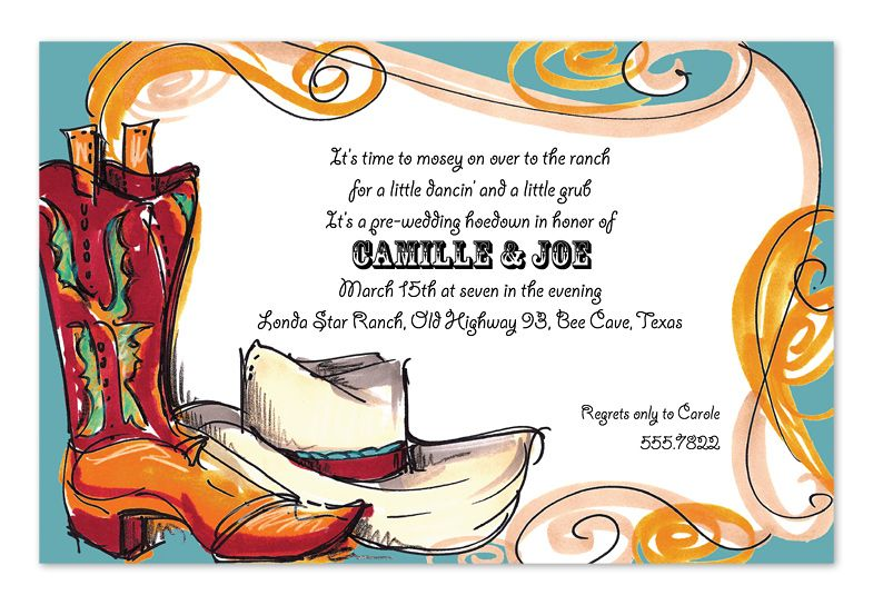 Cowboy Boots And Hat Party Invitations By Invitation Consultants