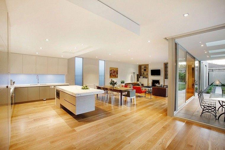 Dise o cocinas abiertas al sal n pr cticas y funcionales for Diseno de interiores para cocinas pequenas
