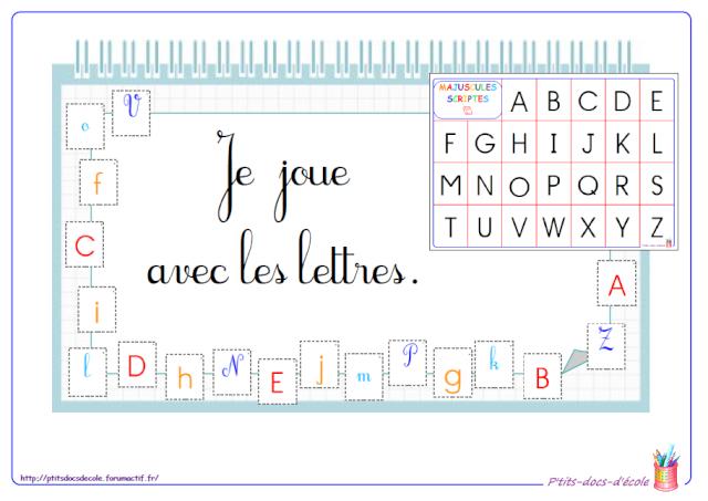 Fabuleux Je joue avec les lettres (cycle 1 et 2) jeu de loto des lettres  QR53