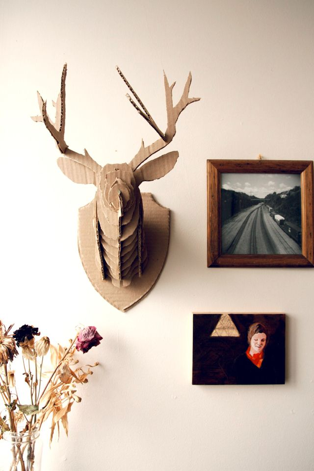 Diy cardboard taxidermy crafty pinterest taxidermy crafty diy cardboard taxidermy solutioingenieria Image collections