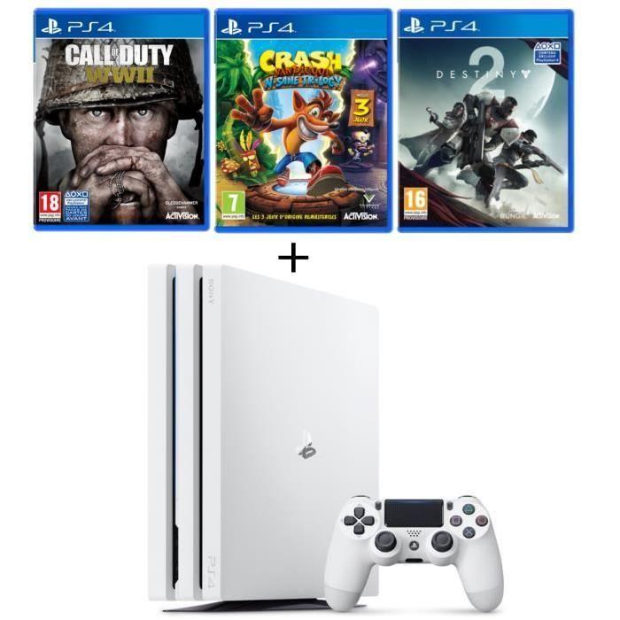 Bon Plan Le Pack Ps4 Pro 1 To 3 Jeux Est A 419 Euros Ps4 Ps4 Games Ps4 Pro