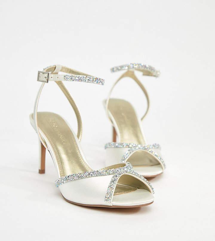 538779eb6ab9 Asos HEART BEAT Bridal Embellished Heeled Sandals  sandalswedding  Embellished Heeled Sandals