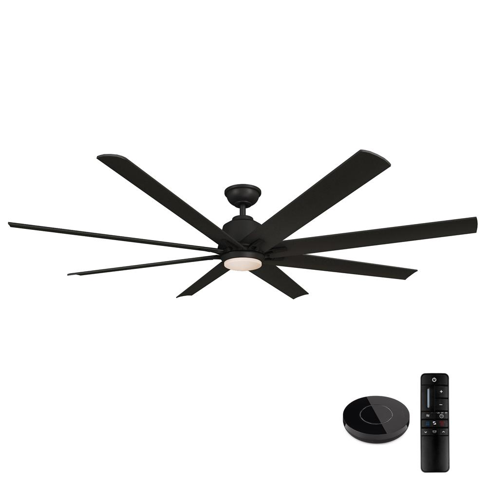 Home Decorators Collection Kensgrove 72 In Led Matte Black Ceiling Fan With Light And Remote Control Works With Google And Alexa Yg493odc Mbk B The Home Depo Black Ceiling Fan Ceiling Fan With Light Fan Light
