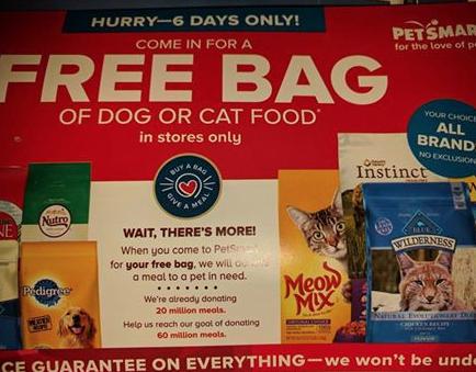 Petsmart Free Bag Of Dog Or Cat Food Cat Food Free Bag Petsmart