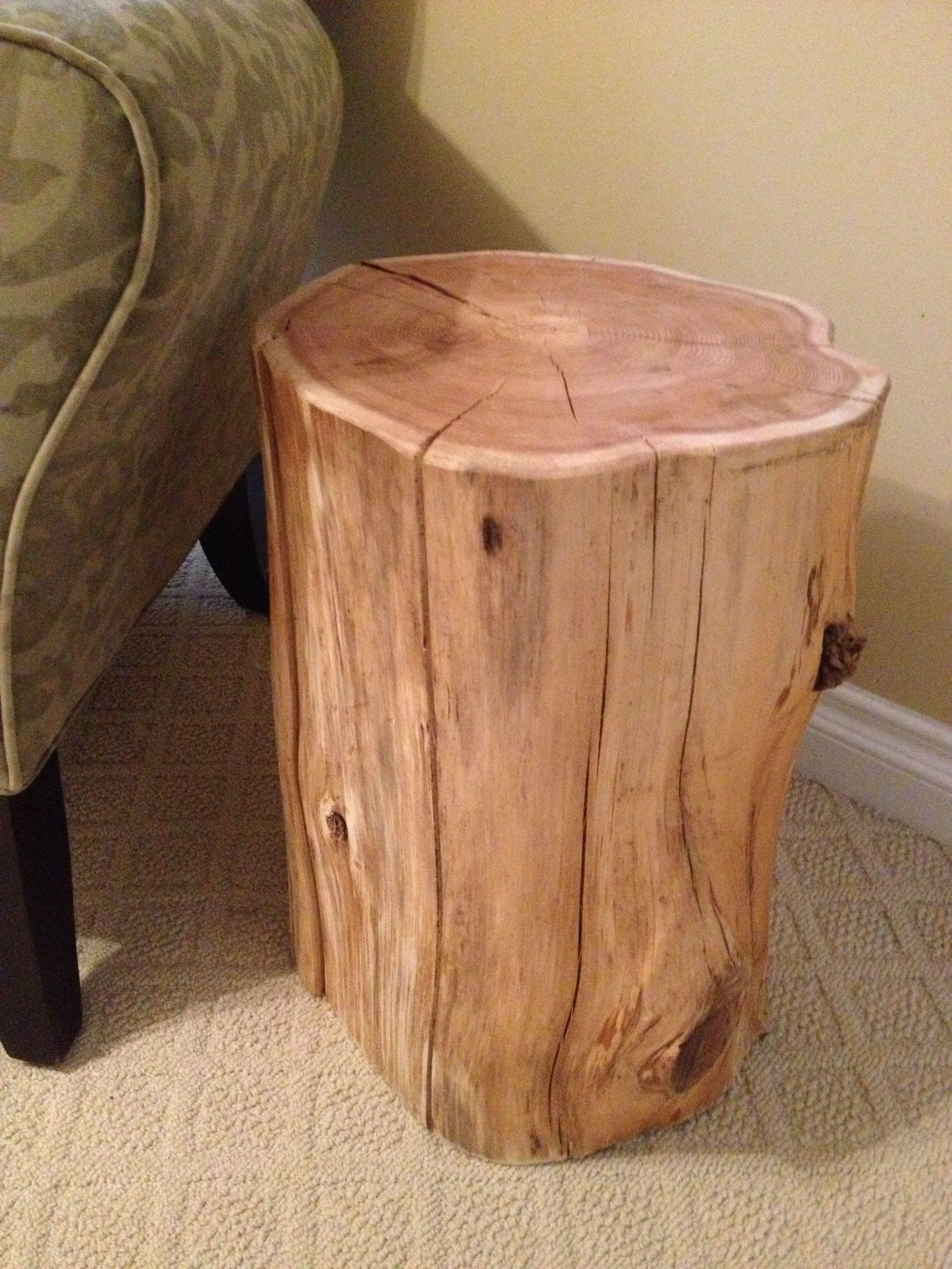 Stump End Table Cedar wwwserenitystumpscom Garden Side Tables
