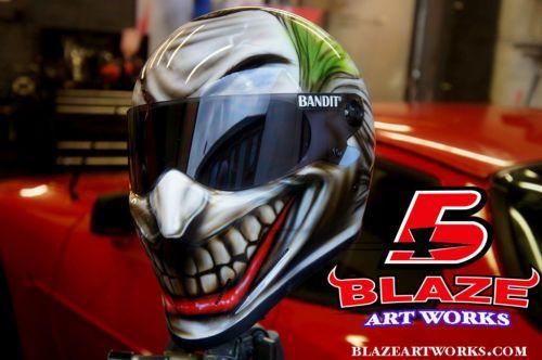 Custom Airbrushed Painted Bandit Crystal Helmet 3d Joker