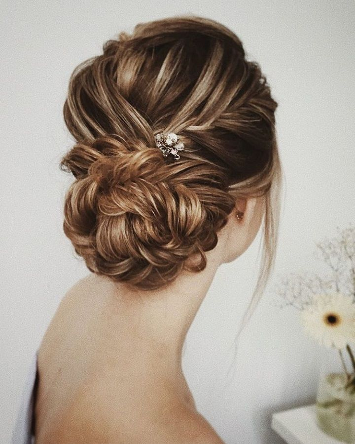 Braids on wedding updo hairstyle | fabmood.com #weddinghair #updos #hairstyles #bridalhair #upstyle #weddinghairdos