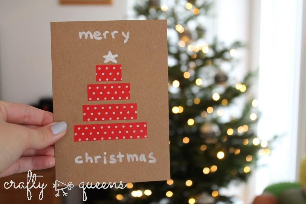 Last-minute Christmas cards #2 for the allround crafter Washi