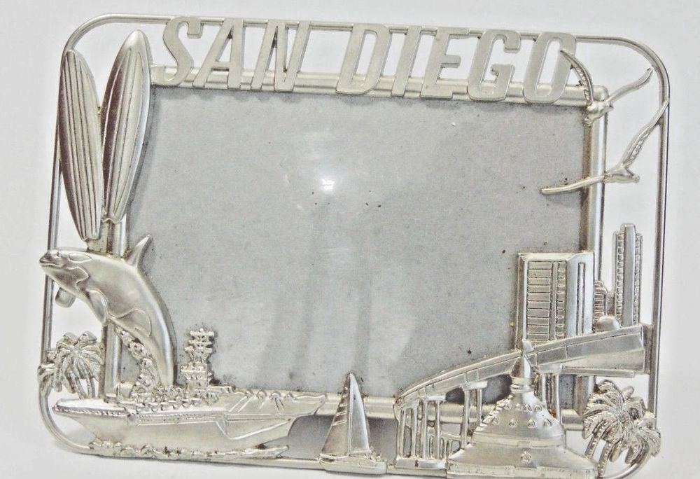 Details about California souvenirs San Diego Hand Painted 4x6 ...