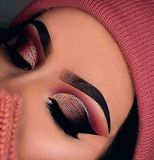 Photo of Pink Gold und Schwarz Lidschatten eyes eyemakeup eyeshadow
