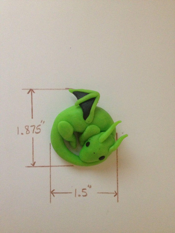 Lime Green Clay Dragon. $10.00, via Etsy. | Clay | Clay ... - photo#20