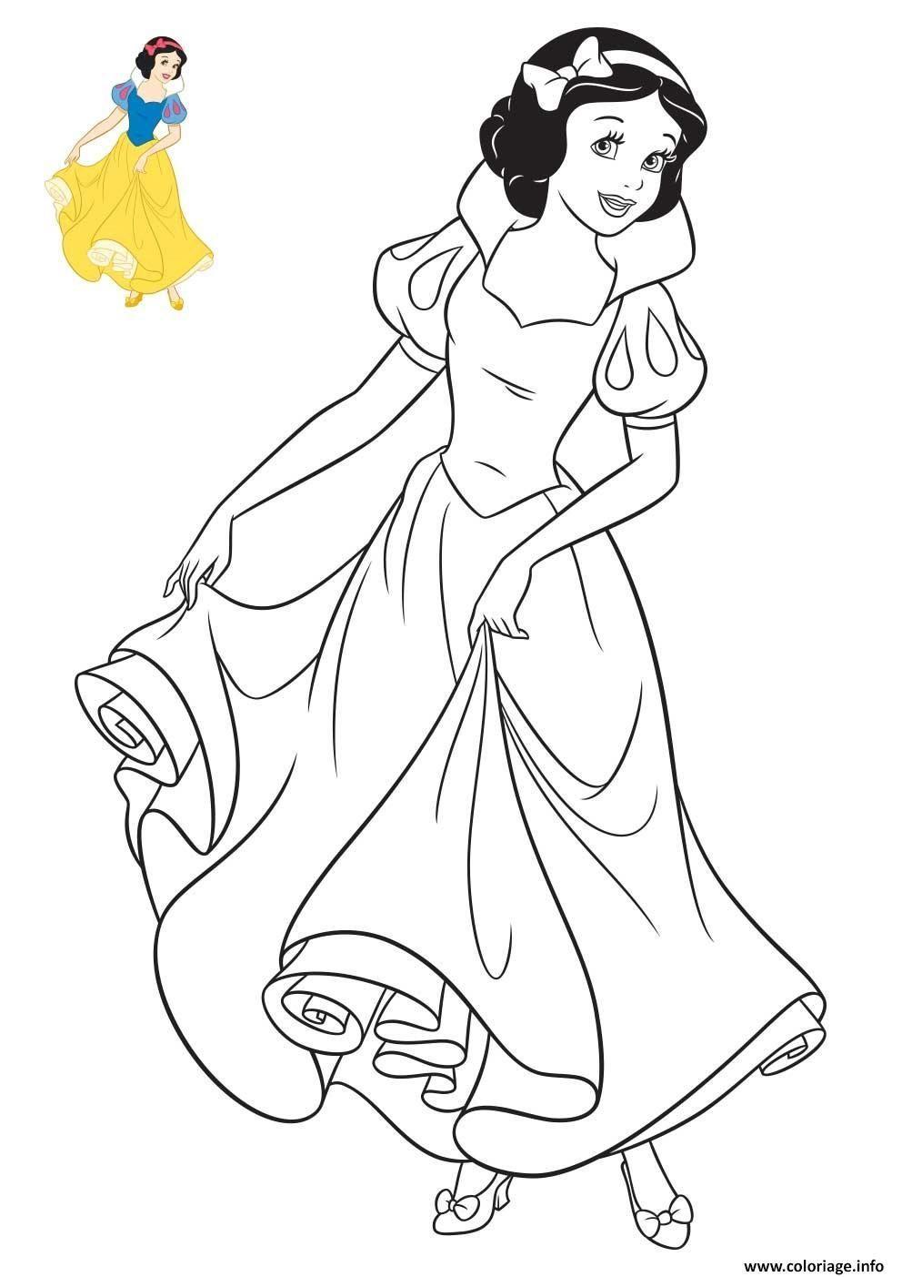 Princesse Disney Blanche Neige Coloriage Dessin  Coloriage dedans