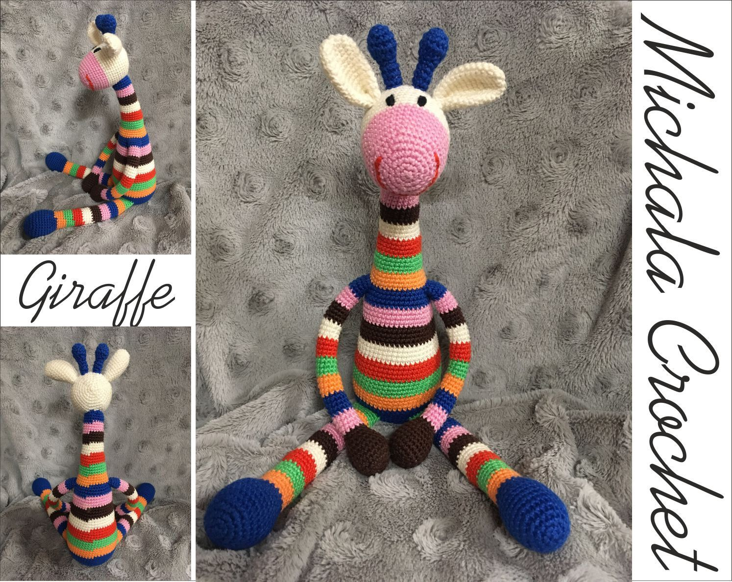 Crochet Giraffe PATTERN #crochetgiraffepattern