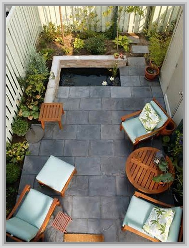 Patio design ideas small spaces small patio pinterest for Very small courtyard ideas