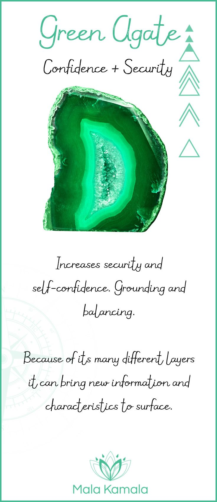 What Is The Meaning And Crystal And Chakra Healing Properties Of Green Agate A Stone For Confidence And Security Green Reiki Symbols Healing Crystal Therapy