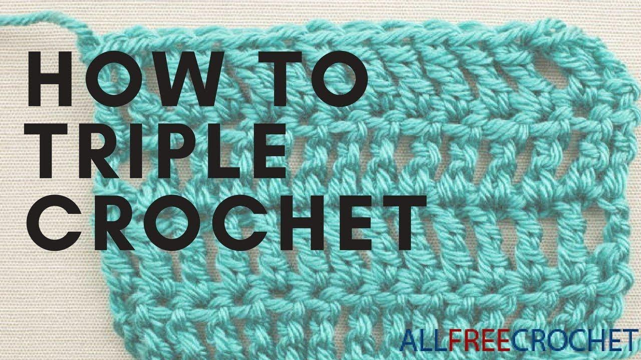 How To Triple Crochet How To Triple Crochet Crochet Crochet Basics