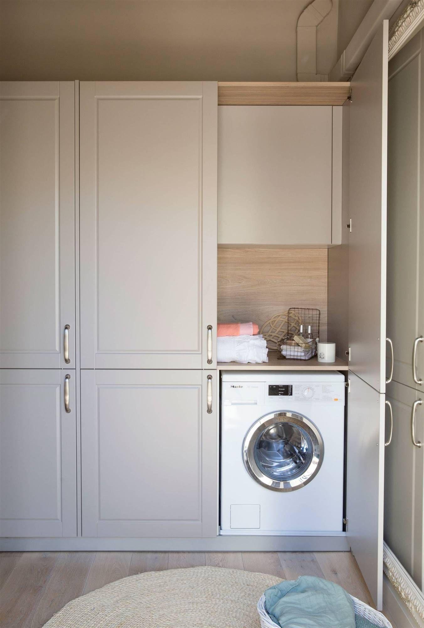 La mejor manera de organizarlo en 2019 lavadero armario para lavadora ba o con lavadora y - Armario para lavadora ...