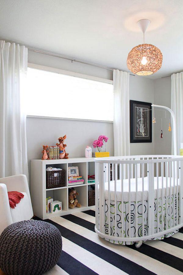 5 habitaciones de beb decoradas a rayas habitacion de beb baby room pinterest bebe - Habitaciones infantiles pintadas a rayas ...