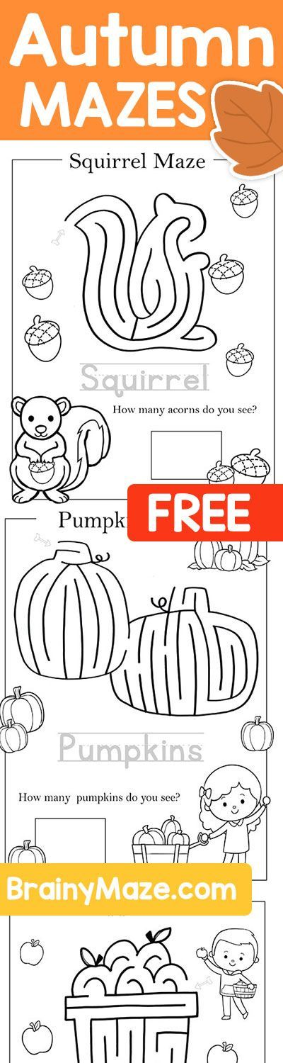 Free Printable Mazes and Activity pages for Thanksgiving! | Free ...