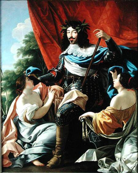 Allegory of Louis XIII (1601-1643) between France and Navarre, second quarter of the 17th century by Simon Vouet (Louvre)